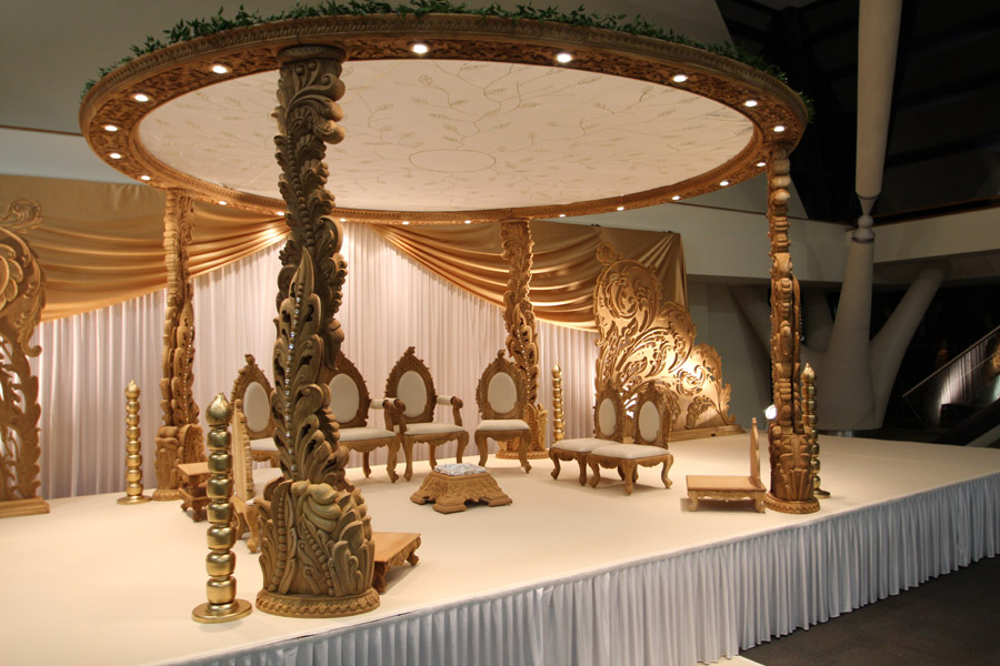 Wooden Carved Aranya Mandaps The Round Wedding Mandaps From Imperial Weddings